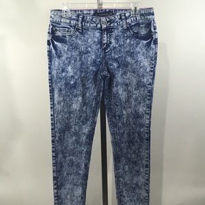 Lovesick Acid Wash Stretch Skinny Blue Jeans